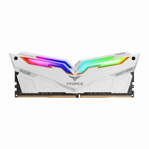 TeamGroup T-Force DDR4 8G PC4-19200 CL15 Night Hawk RGB 화이트